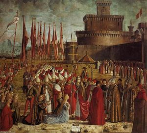 Vittore Carpaccio - The Pilgrims Meet the Pope