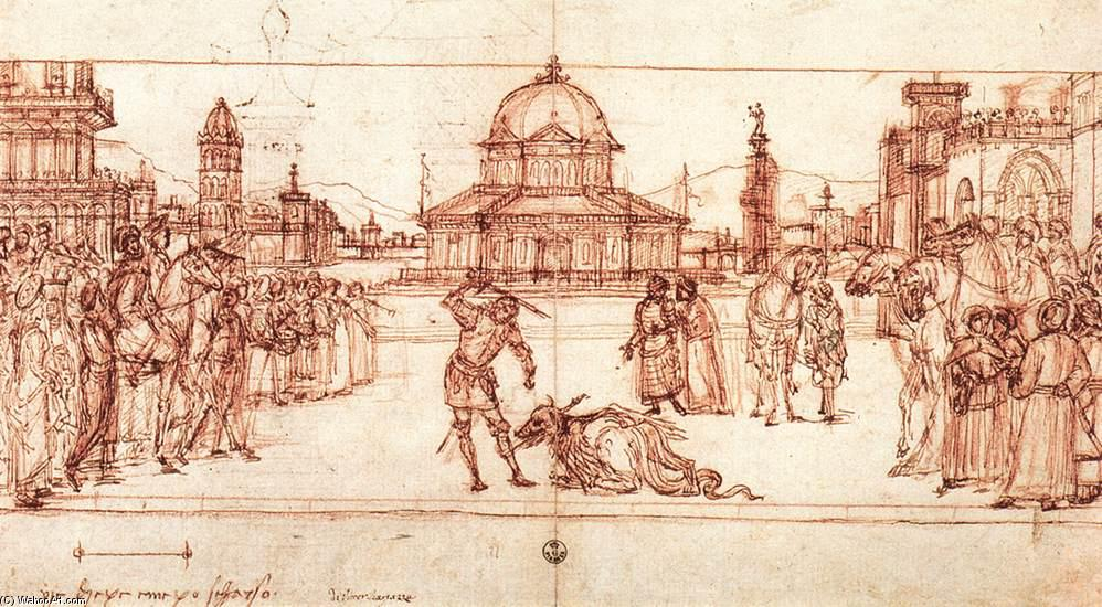 The Triumph of St George, Drawing by Vittore Carpaccio (1465-1526, Italy)