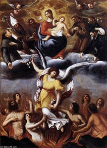 Lodovico Carracci - An Angel Frees the Souls of Purgatory