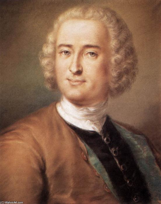 Portrait of a Man, Pastel by Rosalba Carriera (1675-1757, Italy)