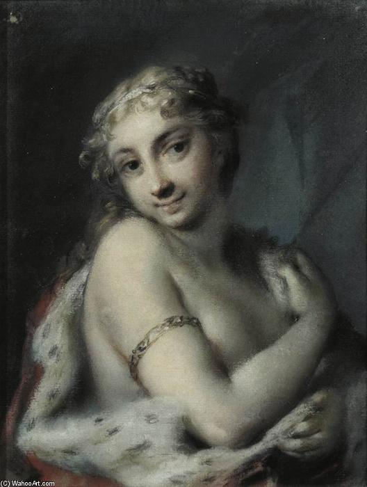 Winter, Pastel by Rosalba Carriera (1675-1757, Italy)