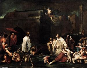 Giuseppe Maria Crespi - The Blessed Bernardo Tolomeo's Intercession for the End of the Plague in Siena