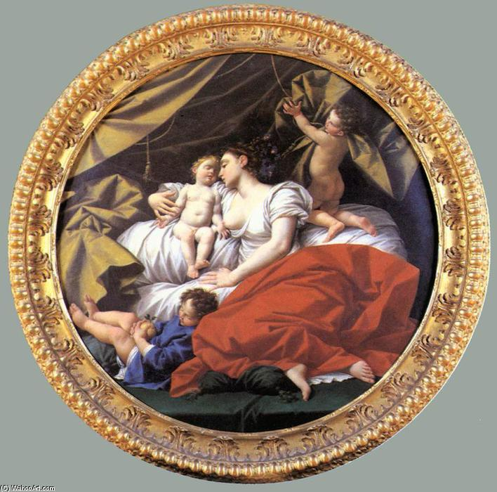 The Charity, 1745 by Donato Creti (1671-1749, Italy) | Famous Paintings Reproductions | WahooArt.com