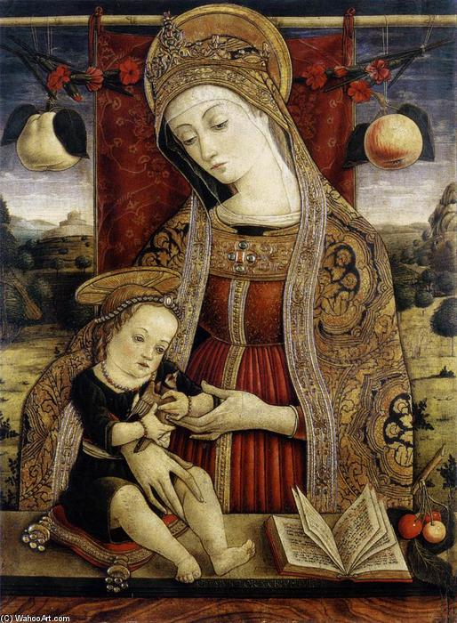 Madonna and Child, Tempera by Vittore Crivelli (1440-1501, Italy)