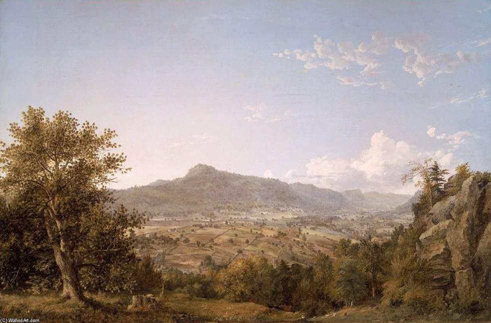 Schatacook Mountain, Housatonic Valley, Connecticut, 1845 by Jasper Francis Cropsey (1823-1900, United States) | Museum Quality Reproductions | WahooArt.com