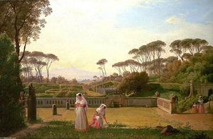 Franz Ludwig Catel - Garden of the Villa Doria Pamphilj in Rome