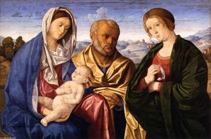 Vincenzo Catena - The Holy Family with a Female Saint