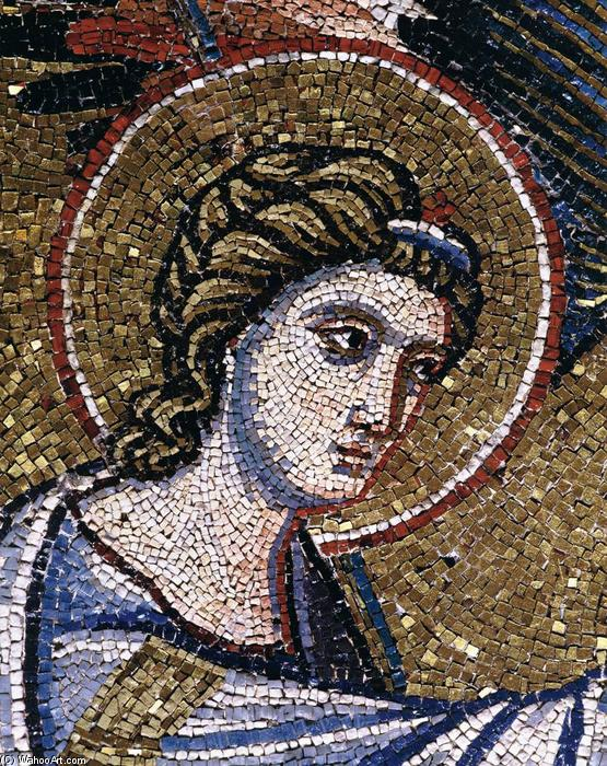 Annunciation (detail), Mosaic by Pietro Cavallini (1259-1330, Italy)