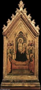 Bernardo Daddi - Madonna and Child Enthroned with Angels and Saints