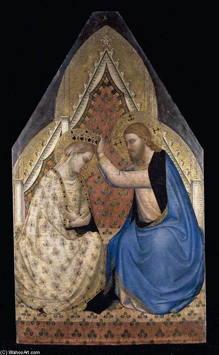 The Coronation of the Virgin, Tempera by Bernardo Daddi (1290-1348, Italy)