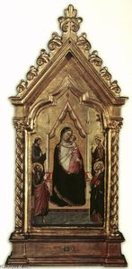 Bernardo Daddi - Virgin and Child Enthroned with Saints