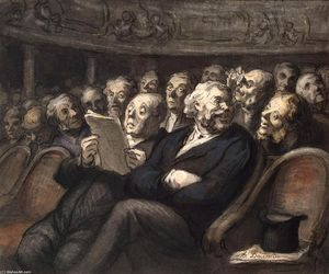 Honoré Daumier - Intermission at the Comédie Française