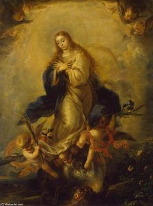 Order Oil Painting : Immaculate Conception, 1664 by Mateo The Younger Cerezo (1637-1666, Spain) | WahooArt.com