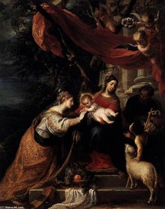 Mateo The Younger Cerezo - The Mystic Marriage of St Catherine
