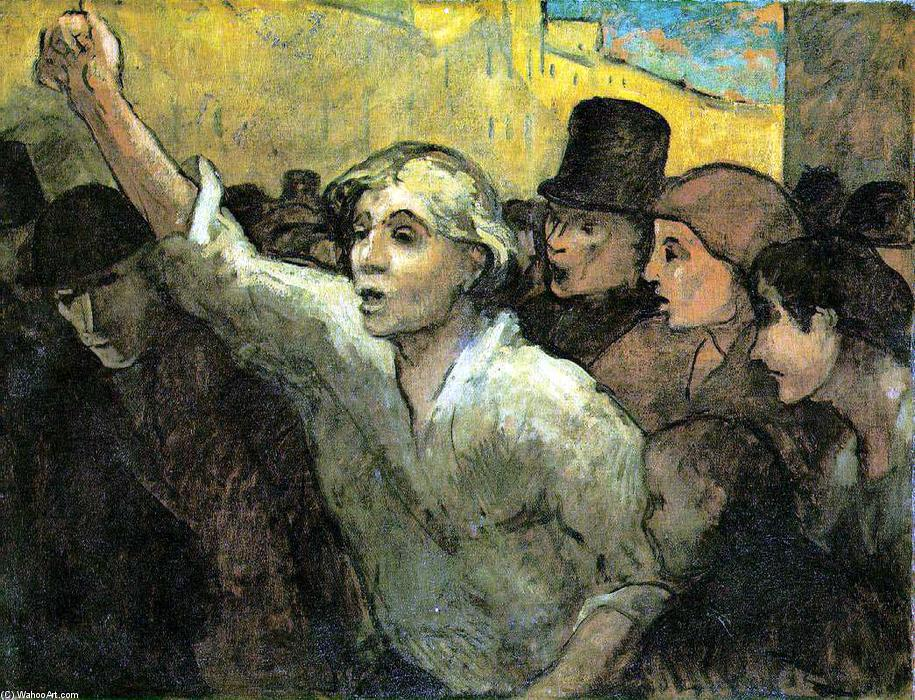 The Uprising, Oil On Canvas by Honoré Daumier (1808-1879, France)
