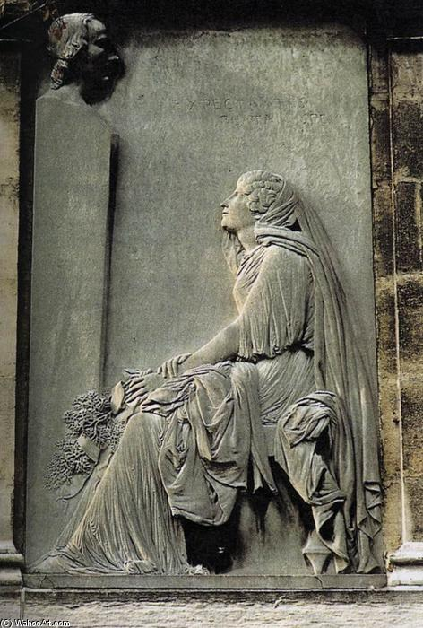 Tomb of the Comte de Bourcke, Marble by David D'angers (1788-1856, France)