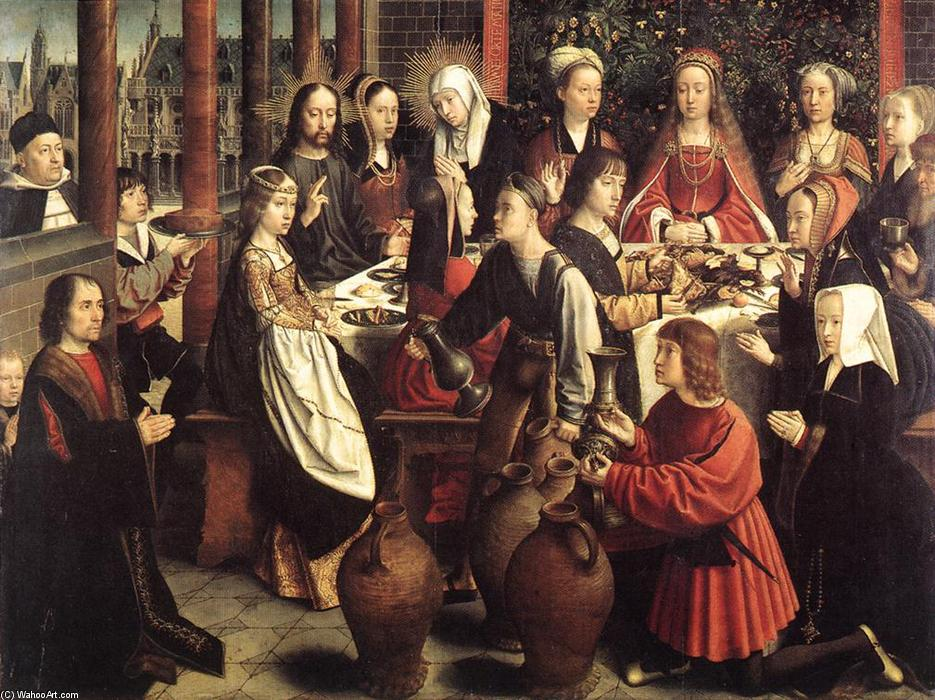 The Marriage at Cana, Oil by Gerard David (1460-1523, Netherlands)