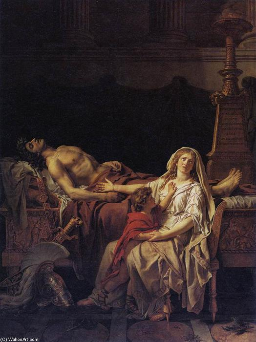 Andromache Mourning Hector, 1783 by Jacques Louis David (1748-1800, France) | Painting Copy | WahooArt.com