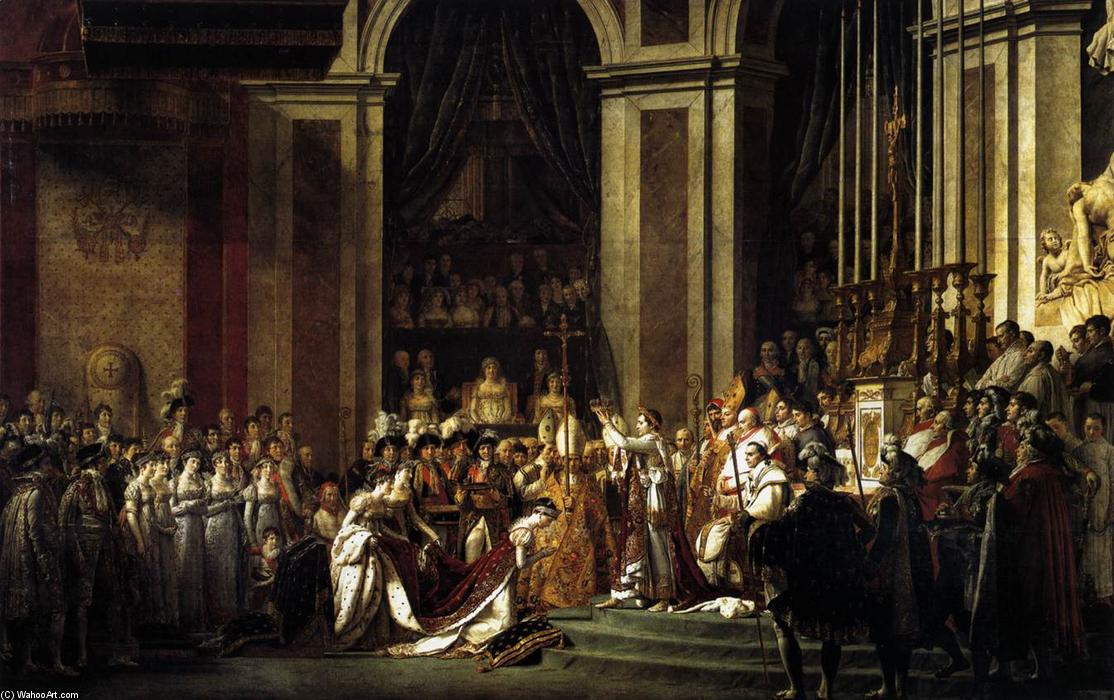 Consecration of the Emperor Napoleon I and Coronation of the Empress Josephine, 1805 by Jacques Louis David (1748-1800, France) | Museum Quality Reproductions | WahooArt.com