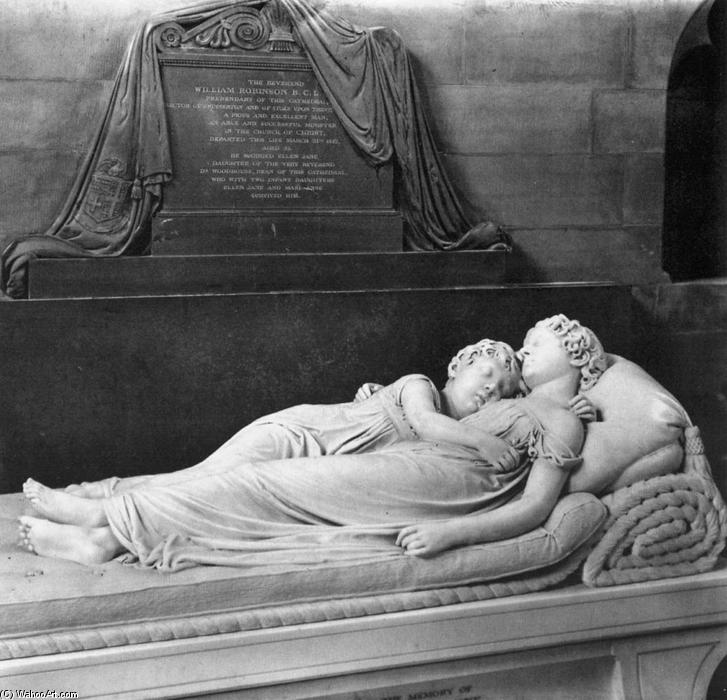 Order Museum Quality Reproductions : Robinson Monument: The Sleeping Children, 1817 by Francis Legatt Chantrey (1782-1841, United Kingdom) | WahooArt.com