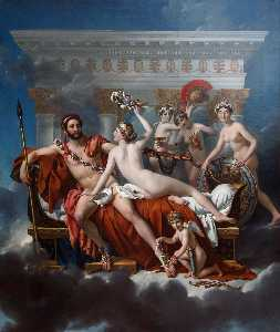 Jacques Louis David - Mars Disarmed by Venus and the Three Graces