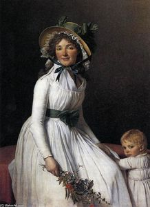 Jacques Louis David - Portrait of Emilie Sériziat and her Son
