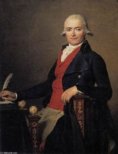 Jacques Louis David - Portrait of Gaspar Mayer