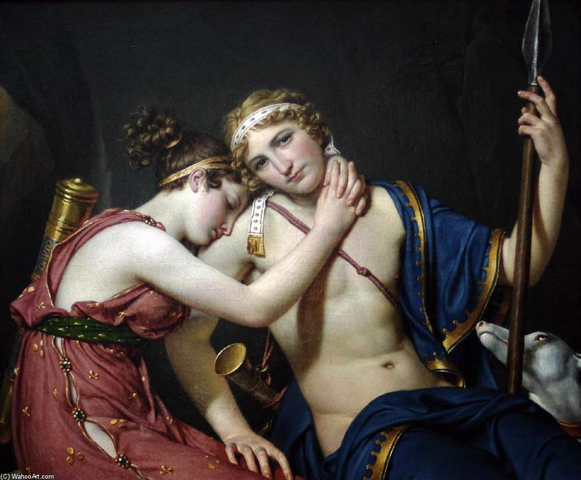 The Farewell of Telemachus and Eucharis, Oil On Canvas by Jacques Louis David (1748-1800, France)