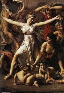 Jacques Louis David - The Intervention of the Sabine Women (detail)