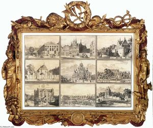 Coenraet Decker - Nine Images of Public Buildings of Delft
