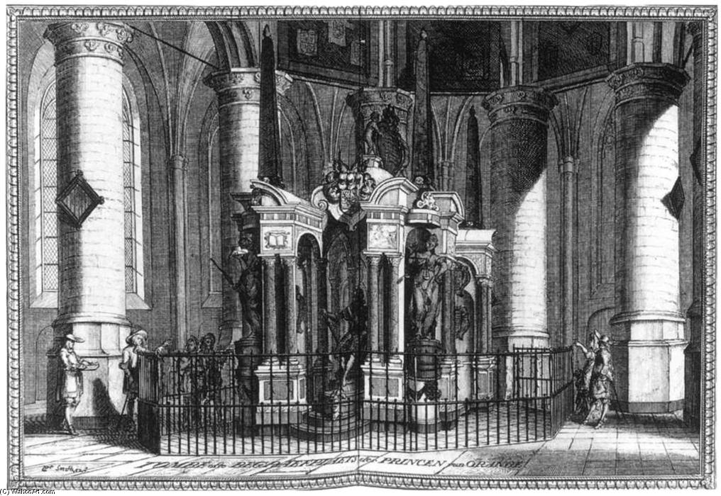 The Tomb of William the Silent in the Nieuwe Kerk, Delft, 1667 by Coenraet Decker (1650-1685, Netherlands) | Painting Copy | WahooArt.com
