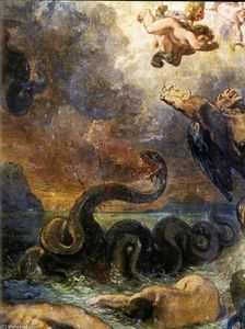 Eugène Delacroix - Apollo Slays Python (detail)