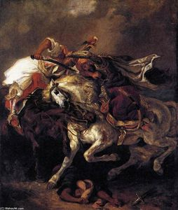 Eugène Delacroix - Combat of the Giaour and the Pasha