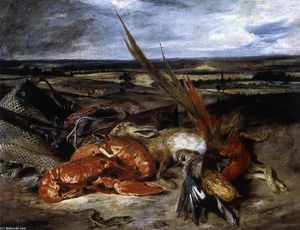 Eugène Delacroix - Still-Life with Lobster