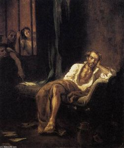 Eugène Delacroix - Tasso in the Madhouse