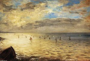 Eugène Delacroix - The Sea from the Heights of Dieppe