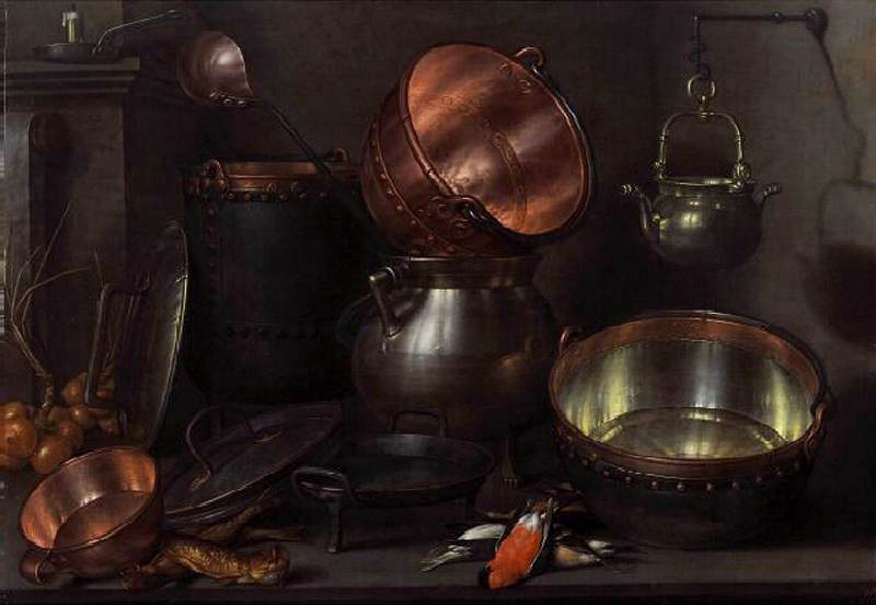 Kitchen Still-Life, 1608 by Cornelis Jacobsz Delff (1580-1638, Netherlands) | Painting Copy | WahooArt.com