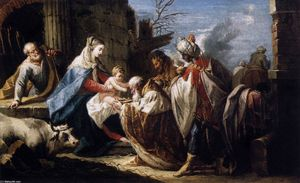 Gaspare Diziani - Adoration of the Magi