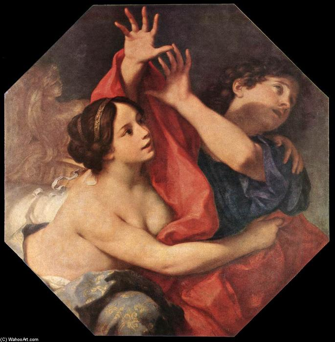 Joseph and Potiphar's Wife, Oil On Canvas by Carlo Cignani (1628-1719, Italy)