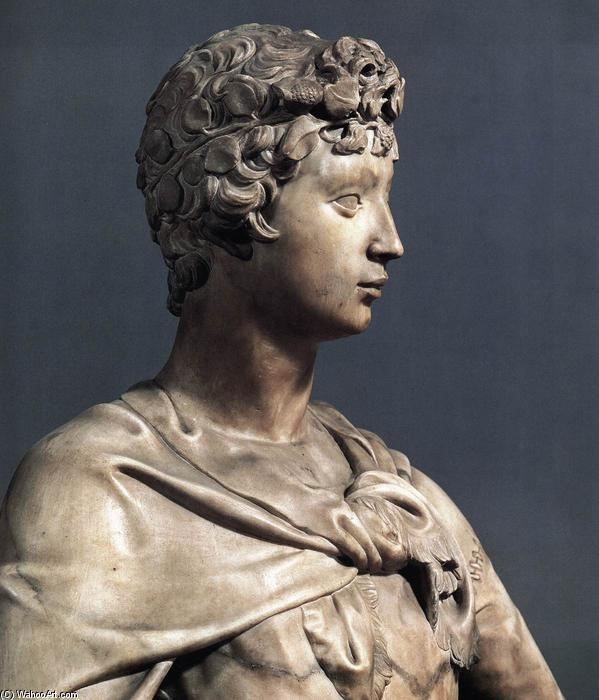 David (detail), Marble by Donatello (1386-1466, Italy)