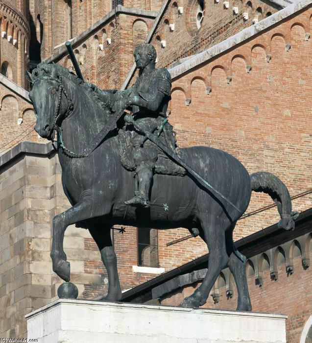 Equestrian Statue of Gattamelata (8), 1447 by Donatello (1386-1466, Italy) | Museum Quality Reproductions | WahooArt.com