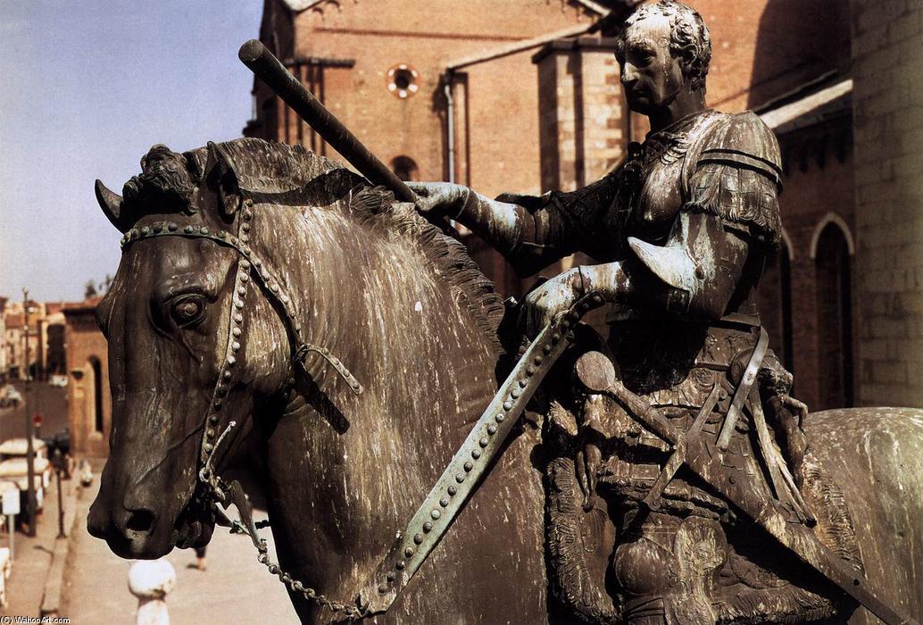 """Equestrian Statue of Gattamelata (8)"""", Bronze by Donatello (1386 ..."""