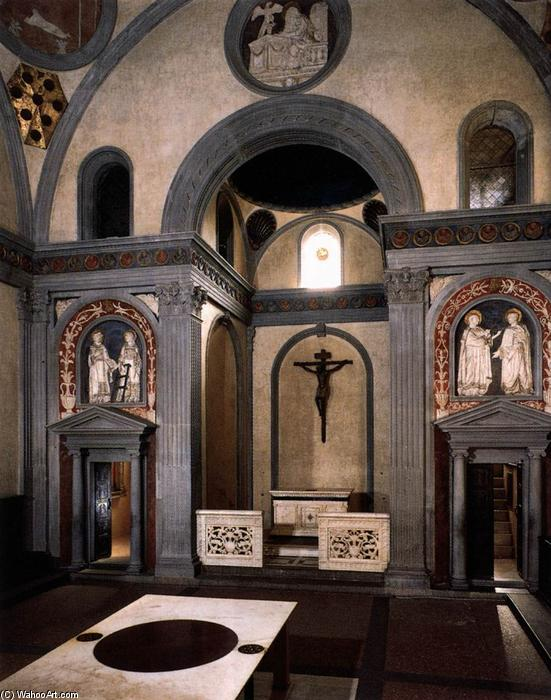 Order Famous Paintings Reproductions : Old Sacristy, 1428 by Donatello (1386-1466, Italy) | WahooArt.com