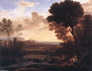 Claude Lorrain - Landscape with Paris and Oenone