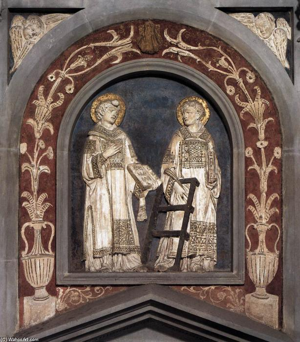 St Stephen and St Lawrence, 1428 by Donatello (1386-1466, Italy) | WahooArt.com