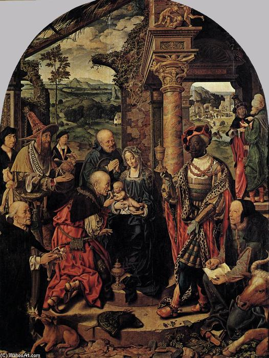 Adoration of the Magi, 1526 by Joos Van Cleve (1485-1540, Germany) | Painting Copy | WahooArt.com