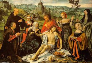 Joos Van Cleve - Altarpiece of the Lamentation (central)