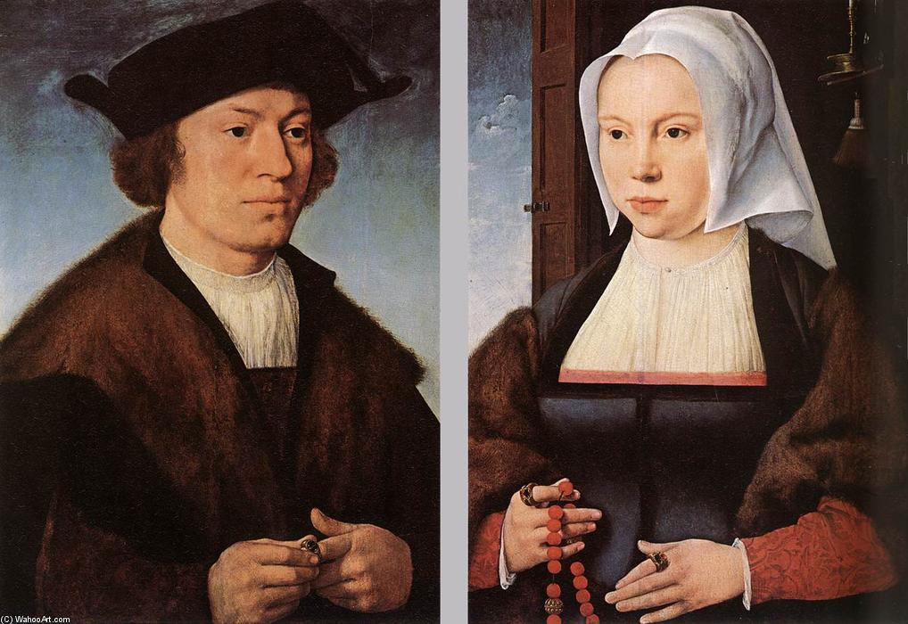 Portrait of a Man and Woman, 1520 by Joos Van Cleve (1485-1540, Germany) | Painting Copy | WahooArt.com