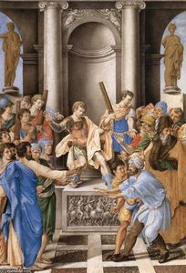 Giulio Clovio - Elymas Struck Blind by St Paul before the Proconsul Sergius Paulus