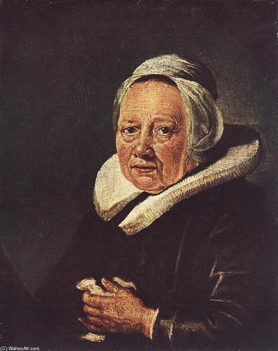 Portrait of an Old Woman, 1643 by Gerrit (Gérard) Dou (1613-1675, Netherlands) | Oil Painting | WahooArt.com